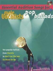 CoopéRative Essential Audition Songs For Male Chanteurs Pop Ballads Music Book/cd-afficher Le Titre D'origine Longue DuréE De Vie