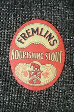 MINT FREMLINS NOURISING STOUT BEER BOTTLE LABEL