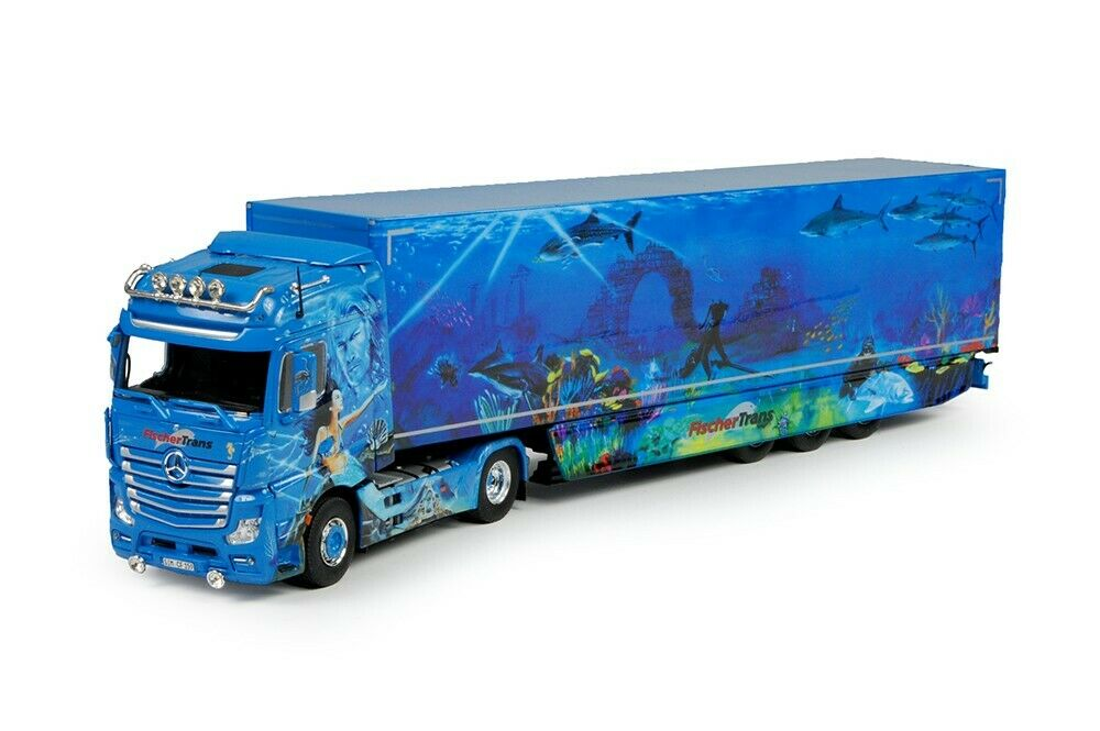 Tekno 69190 Mercedes Benz Actros Gigaspace with Trailer Fischertrans Scale 1 50