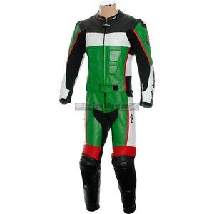 RTX-GP-TECH-Carreras-Verde-Cuero-2-piezas-MOTO-Funda-ideal-para-KAWASAKI