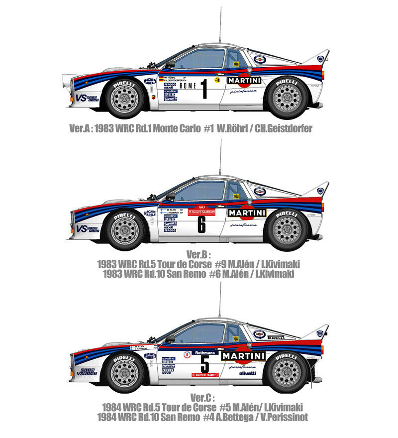Modell - fabrik hiro 1   12 lancia rally 037 1984 martini arbeitet auto kit version c