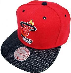 Mitchell-amp-Ness-Miami-Heat-Fibre-Casquette-Snapback-EU-281-Casquette-De-Baseball