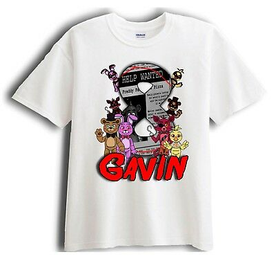 Five Nights at Freddy/'s Custom Personalize Birthday Party Favor Gift T-Shirt