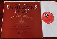COLUMBIA SAX 2319 WALTON BELSHAZZAR'S FEAST LP NM M/N PARTITA ORCH GT BRITAIN