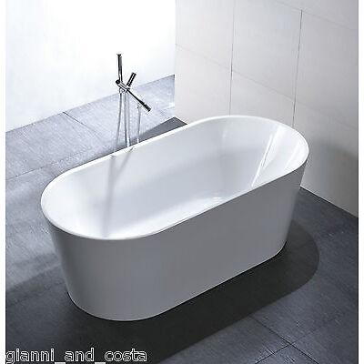 """Bathroom Acrylic Free Standing Bath Tub """"Thin Edge"""" 1500x750x600 Freestanding"""