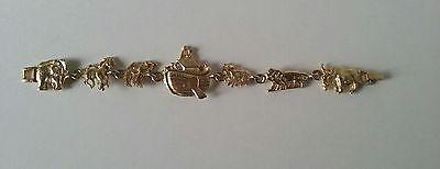 Vintage Noah/'s Ark Jim Shore bangle braceletcarved biblicalbible animal braceletOld Testament Bible bracelet