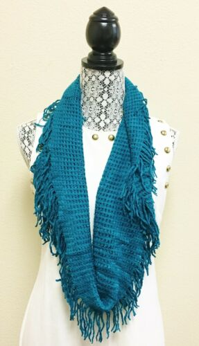 RED+BLUE+MAGENTA+TEAL BLUE,ACRYLIC,FRINGE INFINITY,LOOP SCARF,WRAP,SHAWL,STOLE