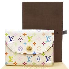 Auth LOUIS VUITTON Enveloppe Cartes De Visite Card Case Multi Color S202114