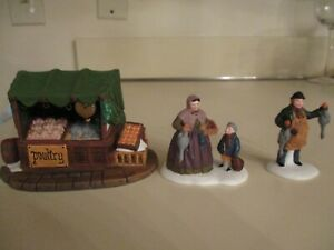 DICKENS VILLAGE FIGURS POULTARY MARKET NEW IN BOX