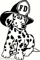 Firehouse Pup Dalmatian Dog Fire Fighter Vinyl Decal Your Color Choice Sticker