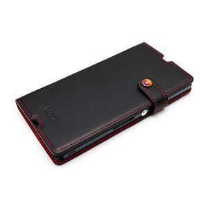 Black-LIMS-Premium-Leather-Slim-Fit-Diary-Stand-Cover-Case-for-Sony-Xperia-Z