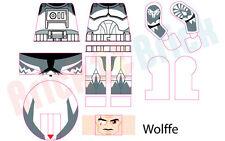 Lego Star Wars Clone Commander CC-3636 Wolffe Custom Water Slide Decal