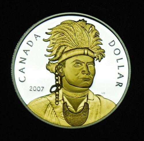 a native leader #2 2007 Canadian silver proof $1 celebrating Thayendanegea