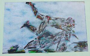A. Savin - Composition Abstraite / Impressionniste - Non EncadrÉe - N°9