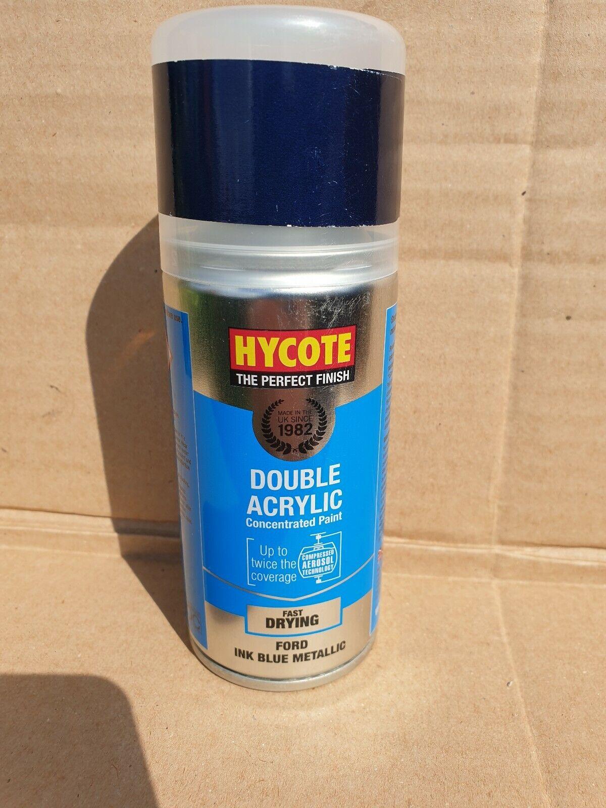 Ford Hycote Ink Blue Metallic Car Paint Spray Can Aerosol 150ml