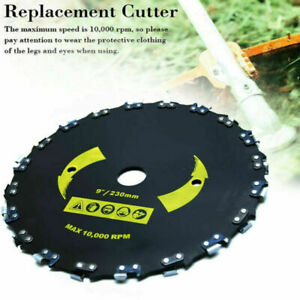 """Chain Saw Tooth Brush-Cutter Grass Blade Heavy Duty 9/"""" For Gas// Electric Trimmer"""