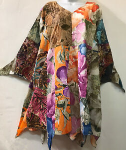 d31edc111a6 Nwt FUNKY STUFF patch nothing matches hippie hanky cotton TOP TUNIC ...