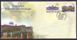 2001-Malaysia-Putrajaya-Federal-Territory-2v-Stamps-FDC-Kuala-Lumpur-Cachet