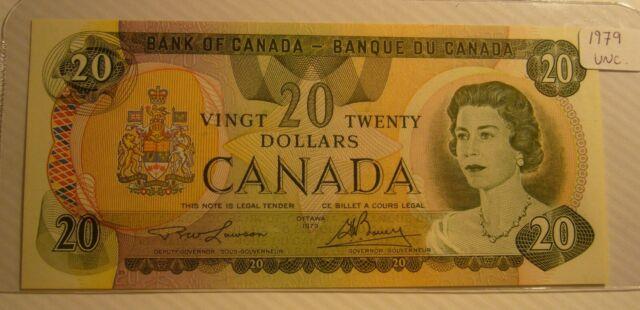 1979 Bank of Canada $20 Dollar Note Lawson / Bouey UNC