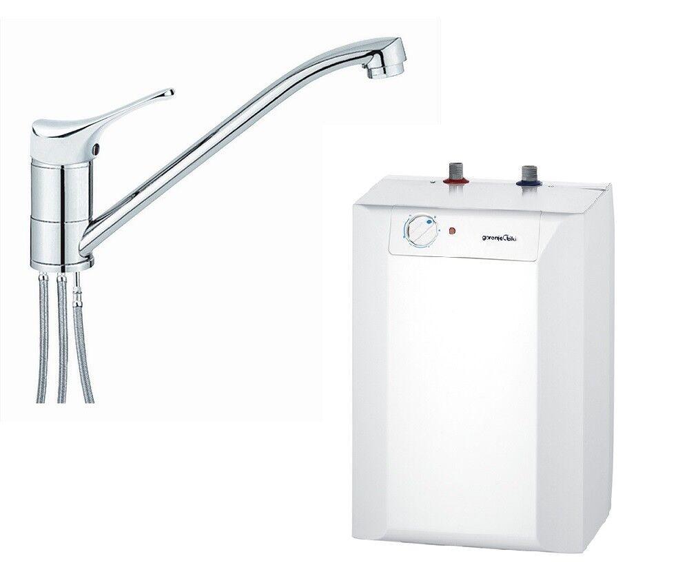 Untertischgerät Untertisch Boiler 10 Liter Warmwasserspeicher + Armatur Gorenje