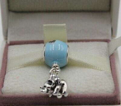 AUTHENTIC PANDORA Elephant & Blue Balloon Charm 797239EN169 #1291 | eBay