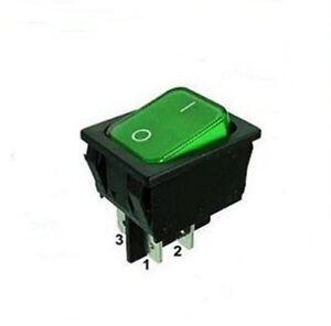 robuster wippschalter 2 polig ger teschalter 250v 15a mit gr ner kontrolleuchte. Black Bedroom Furniture Sets. Home Design Ideas