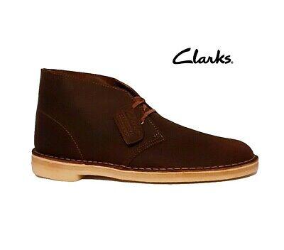 CLARKS Desert Boots original icona Boot Cera D'api Marrone Pelle Scarpe Da Uomo | eBay