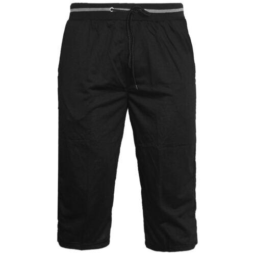 Uomo elastico Jersey Lunga in Pile Jogger Pantaloncini da Palestra in esecuzione a contrasto cerniera tasche