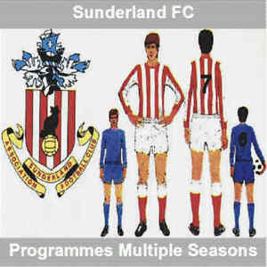 Programme-Sunderland-Football-Inc-Roker-Park-Home-Programmes-Various-Lot-1