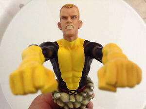 MARVEL-BOWEN-CANNONBALL-BUST-LOW-397-500-RARE-SOLD-OUT-MIB-X-MEN-NEW-MUTANTS-123