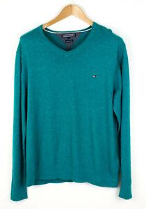 Tommy Hilfiger Herren Premium Baumwolle Pullover Strickjacke Größe XXL AGZ42