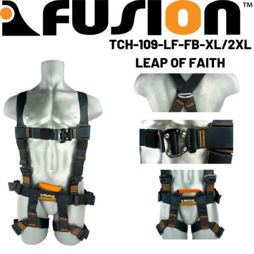Fusion Climb Leap of Faith Full Body Fall Protection Zipline Harness 23KN XL//2XL