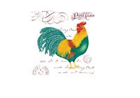 Alice's Cottage Flour Sack Towel - Postcard, Rooster
