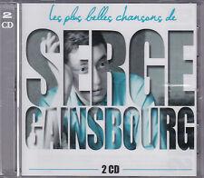 DOUBLE CD 40T LES PLUS BELLES CHANSONS DE SERGE GAINSBOURG BEST OF 2013 NEUF SCE