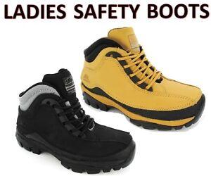 LADIES SAFETY BOOT BLACK HONEY