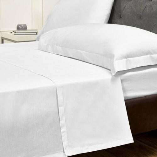 200 TC 100% Cotton White Flat SheetSingle, Double, King & Super King Bedsheet