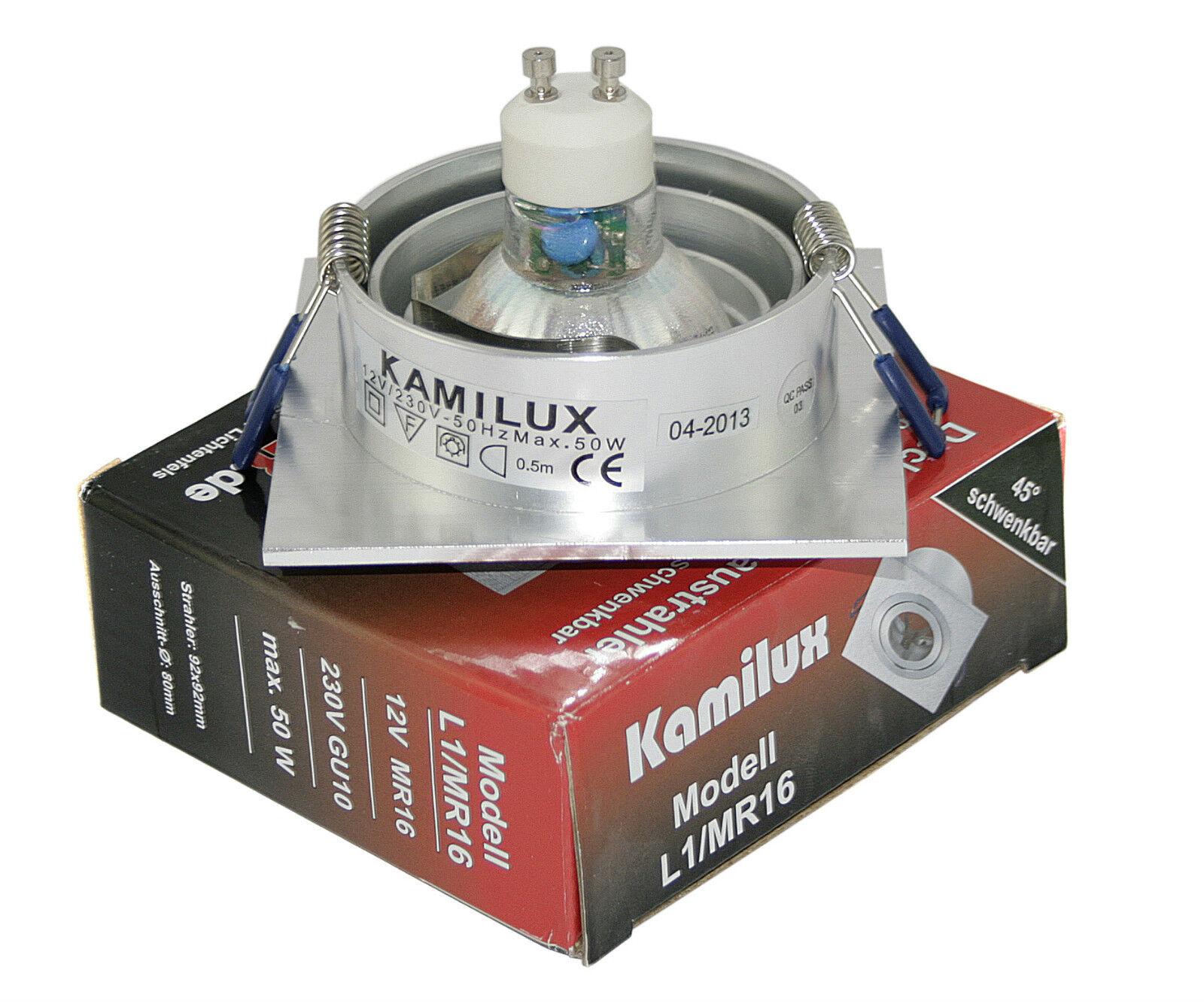 LED 230v techos emisor de de de instalación con 5w = 50w gu10 Kanto triangular de juegos de 1-10er 434a0f