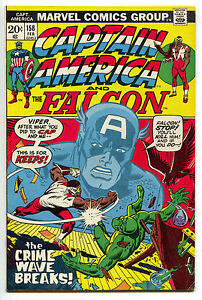 Captain-America-158-Marvel-1973-FN-Falcon-Pink-Panther-Jetsons-Underdog-TV-Ad