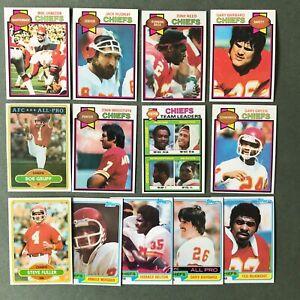 Lot 13 cartes NFL Kansas City Chiefs 1979 1980 1981 TOPPS Football Américain