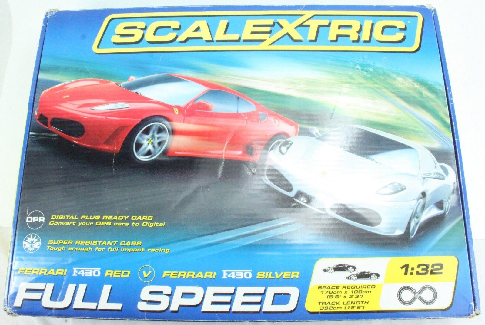 1 32 SCALEXTRIC C1225 FULL SPEED SET (D27)