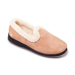 Details about Padders REPOSE Ladies Memory Foam Comfy Extra Wide EE Fitting Slippers Taupe