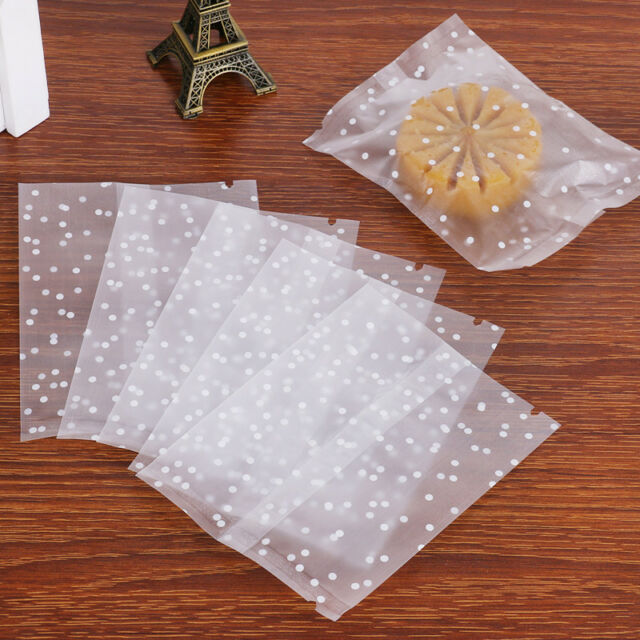 Party Favor Bag for Bakery Artboil 200pcs Lovely Lace Bowknot Clear Self Adhesive Treat Bag Cellophane Bag Cookie Bag Candy 5.5 x 5.5 Inch Cookie