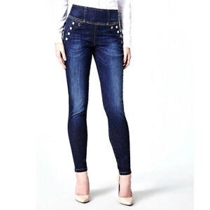 more photos bf8ce a0f76 Details about GUESS JEANS PUSH UP DONNA SKINNY PANTALONE CURVE X HIGH  BUTTON W84A23D3BP0