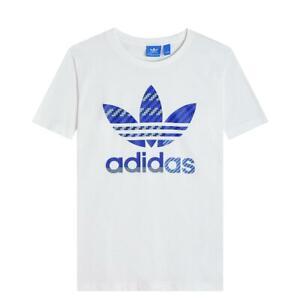 adidas-ORIGINALS-TREFOIL-T-SHIRT-MEN-039-S-TOP-TEE-CASUAL-WHITE-SHORT-SLEEVE-CREW