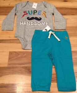 Nwt Blue Striped Shirt /& Pants Baby Gap Boys 6-12 Months Outfit
