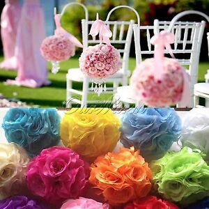 Artificial silk flower kissing ball wedding centerpiece pomanders image is loading artificial silk flower kissing ball wedding centerpiece pomanders mightylinksfo