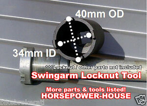 27mm SPANNER TOOL SOCKET for SWINGARM PIVOT LOCKNUT @ 88-91 HONDA NT650 HAWK GT