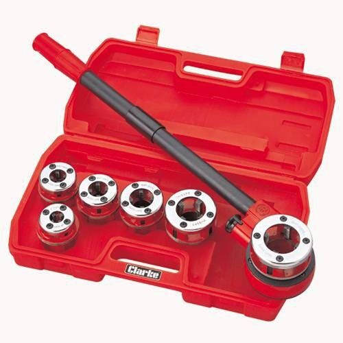 Clarke CHT392-6 Piece Pipe Threading Kit 1801392