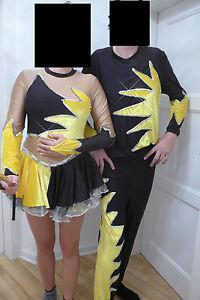 Tanzpaar-Gardekostuem-Major-und-Tanzmariechen-Erwachsene-Tanz-Uniform-Unikat