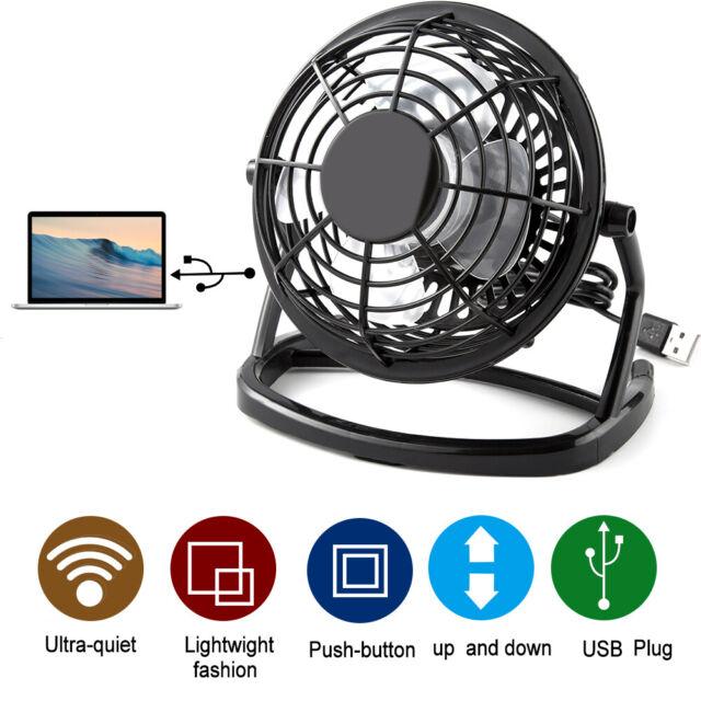 Mini USB Desk Fan Quiet Personal Cooler USB Powered Portable Cooling Table Fan